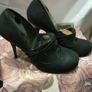 Nearly NEW DIESEL Charcoal Mary Jane Heels